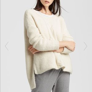 Eileen Fisher Baby Alpaca Cable Boxy Sweater